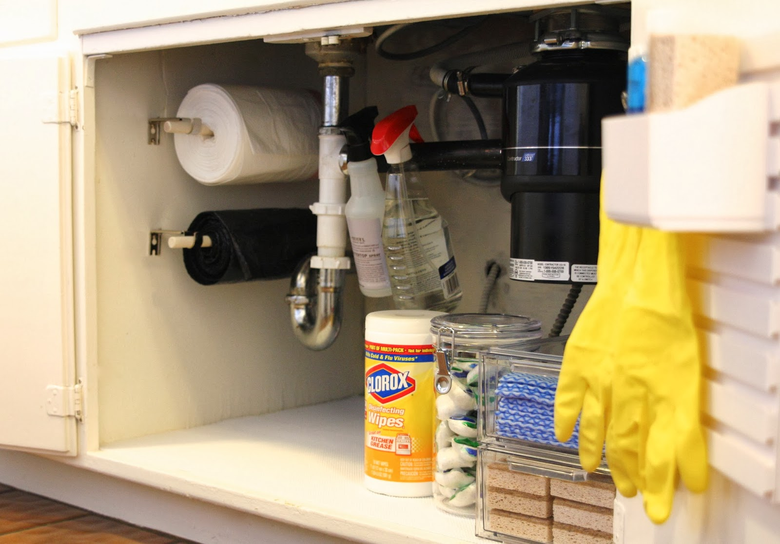 kitchen garbage bags tiles simply organized simple diy trash on a roll