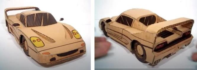 Papermau How To Make A Ferrari Out Of Cardboard Tutorial With Templatesby Oficina De Artes Diversas