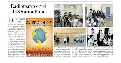 PRENSA - Radioteatro en el IES Santa Pola (28/10/2020)