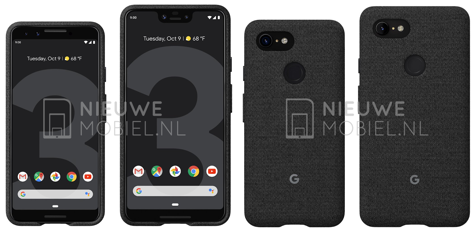 [Leaked] Google Pixel 3 And Pixel 3 XL Official Renders With Case