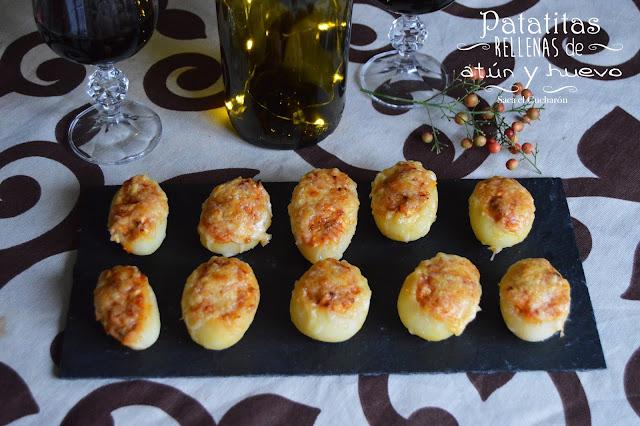 Patatitas rellenas de atún y huevo - Saca el Cucharón