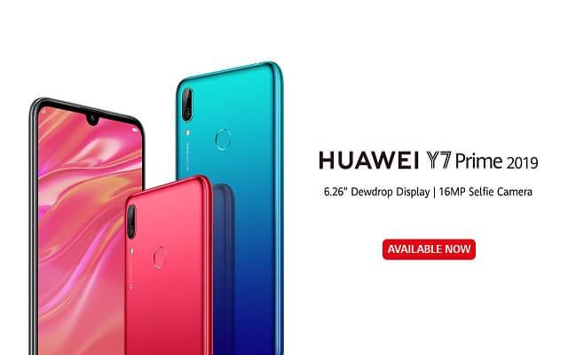 سعر هاتف هواوي واي 7 برايم 2019
