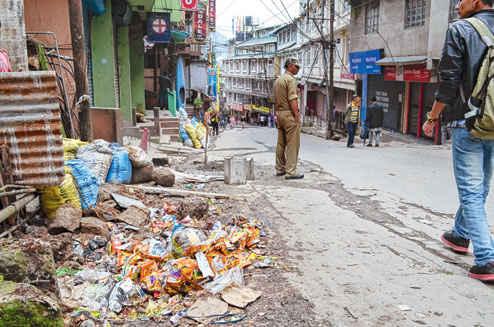 Garbage dumping in Darjeeling