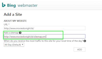 add sitemap in bing webmaster www.nisarhussain.com