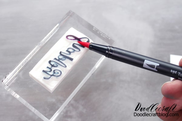How to carve a Rubber Stamp from a Tombow MONO Plastic Eraser DIY