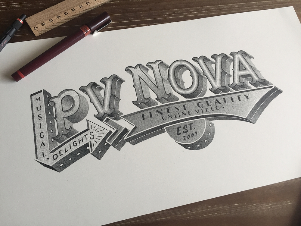 05-NOVA-Xavier-Casalta-Typography-Illustrations-using-Stippling-www-designstack-co