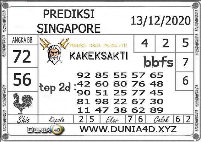 Prediksi Togel SINGAPORE DUNIA4D 13 DESEMBER 2020