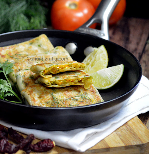 Crepes, Vegetable Crepes, Savoury Crepes