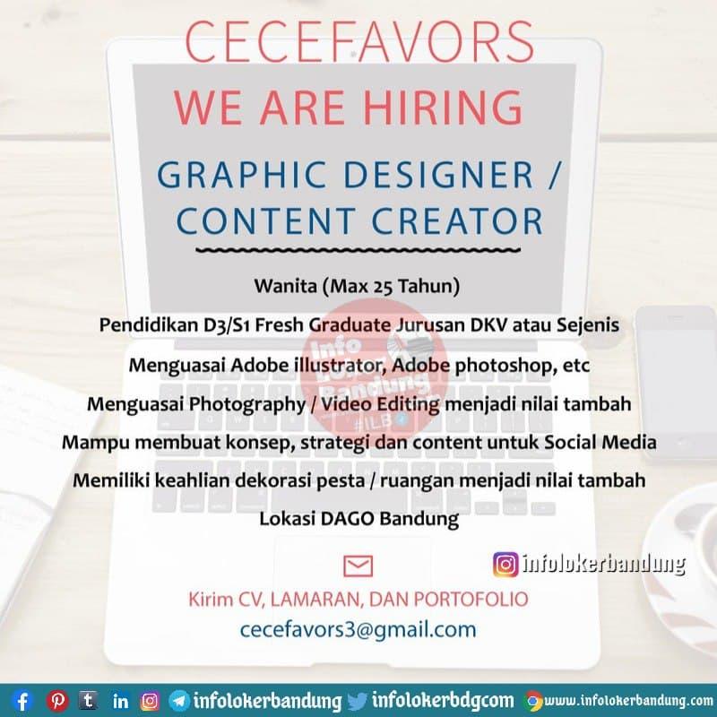 Lowongan Kerja Graphic Designer / Content Creator Cecevors Bandung Februari 2021