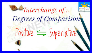 Interchange of Degrees of Comparison – Positive Degree and Superlative Degree
