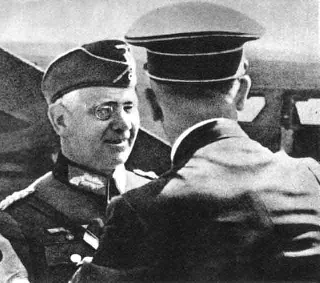 Hitler and Field Marshal von Reichenau in Poland worldwartwo.filminspector.com