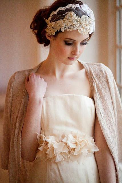 Velvet bride cap