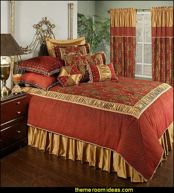 Austin Horn Classics Montecito Royale 4-Piece California King Comforter Set  Medieval Knights & Dragons decorating ideas - knights castle decor - knights and dragons theme rooms - dragon theme decor - prince decor - medieval castle wall murals - knights and dragons baby bedding - Knights Medieval bedding - dragon bedding - dragon murals - dragon themed bedroom ideas - Princess decor
