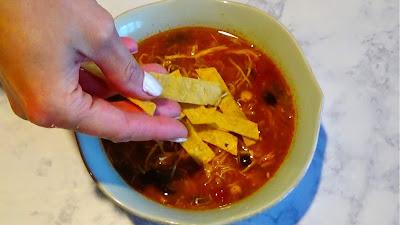 Quick easy best Instant Pot chicken tortilla soup recipe