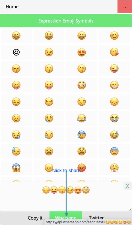 How to Share 👩💻 Emoji Symbols On Whatsapp?