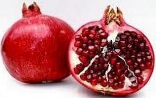 Granada roja o granada de color rojo