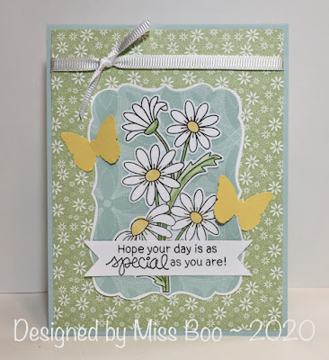 Hope your day is as special as you are by Miss Boo features Dainty Daisies by Newton's Nook Designs; #newtonsnook
