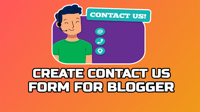 How to Create Stylish Contact Form Page For Blogger Full Guide