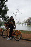 bicicleta fonte do lago no parque ibirapuera são paulo