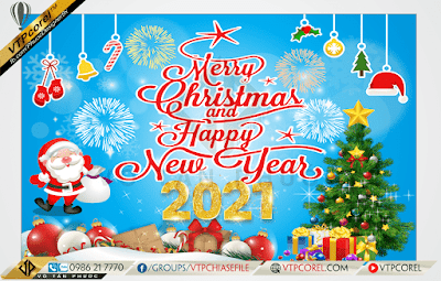 Phông nền giáng sinh - Merry Christmas and Happy New Year 2021