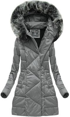 Asymetryczne kurtki szare damskie na jesień i zimę