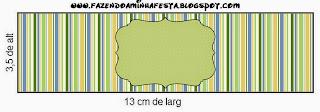 Etiquetas de Verde, Azul y Naranja para imprimir gratis.