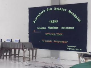 Dewan Guru, Komite dan Kepala Sekolah SMK Al Hamidy Banyuanyar, Seminar Kesehatan MTs / MA / SMK Al Hamidy Banyuanyar