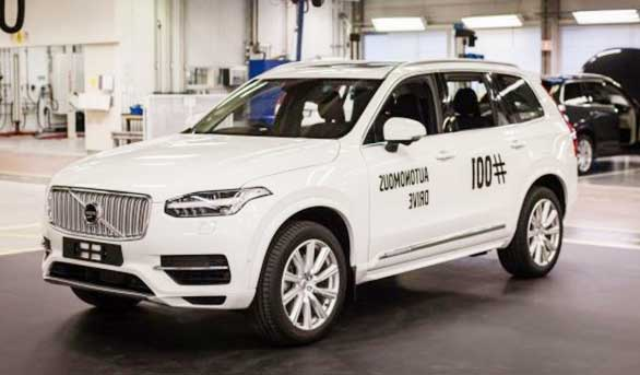Volvo XC90 Autonomous Drive first testing
