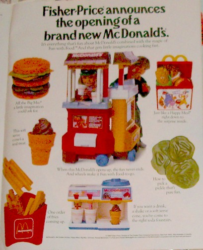 Toy Addict Com Fisher Price Play Food Mcdonalds