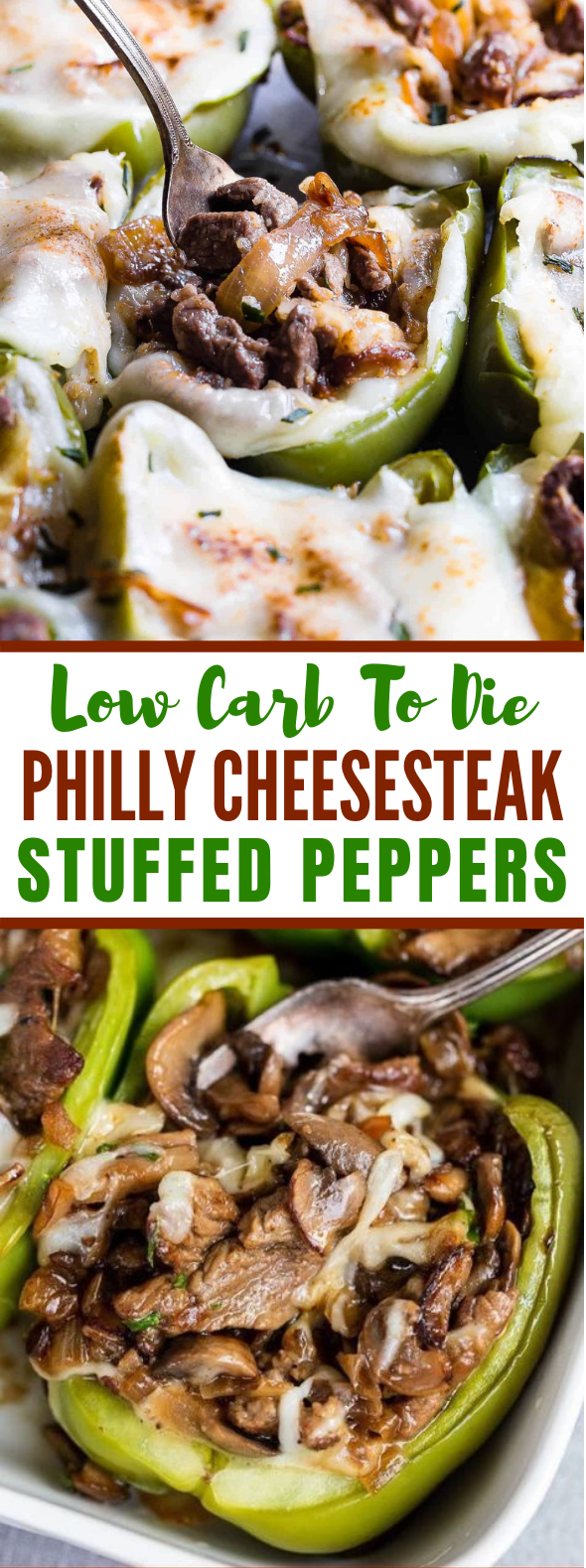 Philly Cheesesteak Stuffed Peppers (low-carb) #diet #dinnerhealthy