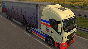 Chevron Iveco Hi-Way skin + trailer pack