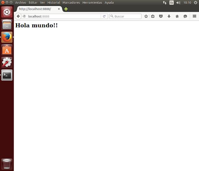 servidor web nodejs hola mundo