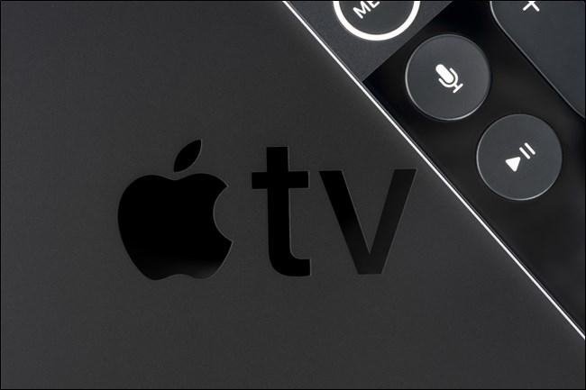 شعار Apple TV مع جهاز التحكم عن بعد