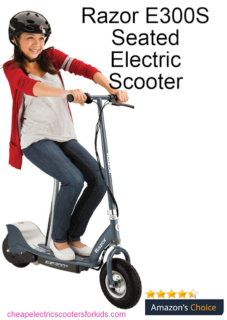 Razor E300S Seated Electric Scooter  Best Electric Scooters for Kids,