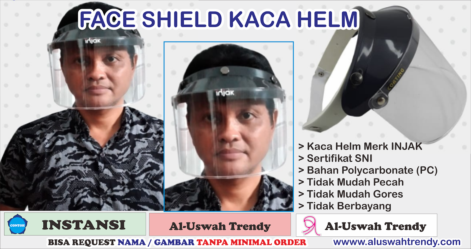Face Shield Dewasa Kaca Helm