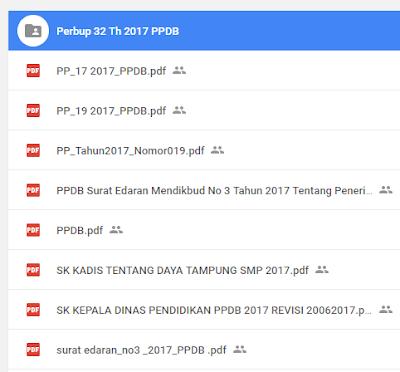 Dokument PPDB 2017 Google Drive lengkap
