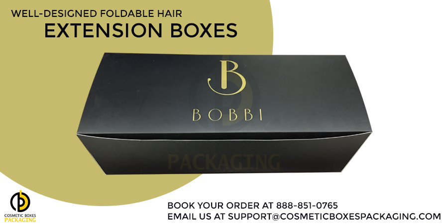 Customized Foldable Boxes To Pack Hair Extensions