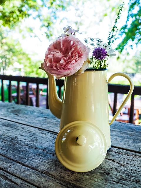 Emaille vintage koffiepot