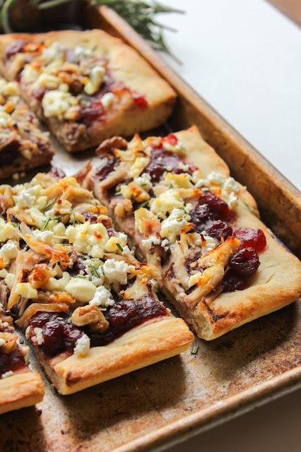 Chicken Cranberry Walnut Pizza with Goat Cheese | The Chef Next Door