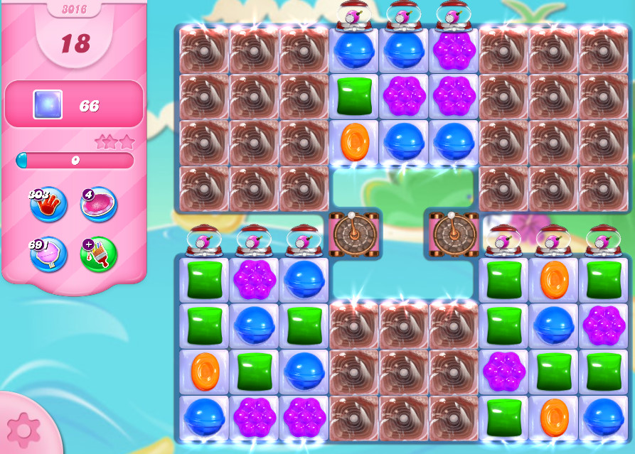 Candy Crush Saga level 3016