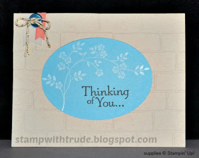 Thoughts and Prayers, Encouragement card, Stampin' Up!, Stamp with Trude
