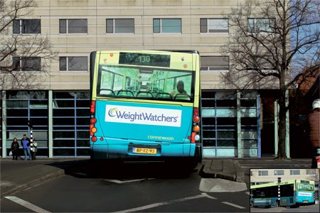weightwatchers bus advert looks tilted by weight