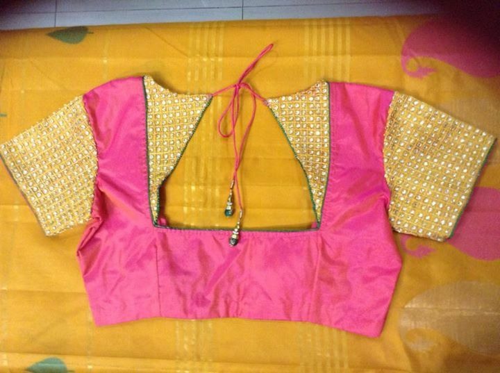 MODELS OF BLOUSE DESIGNS SILK COTTON CASUAL TRIANGLE