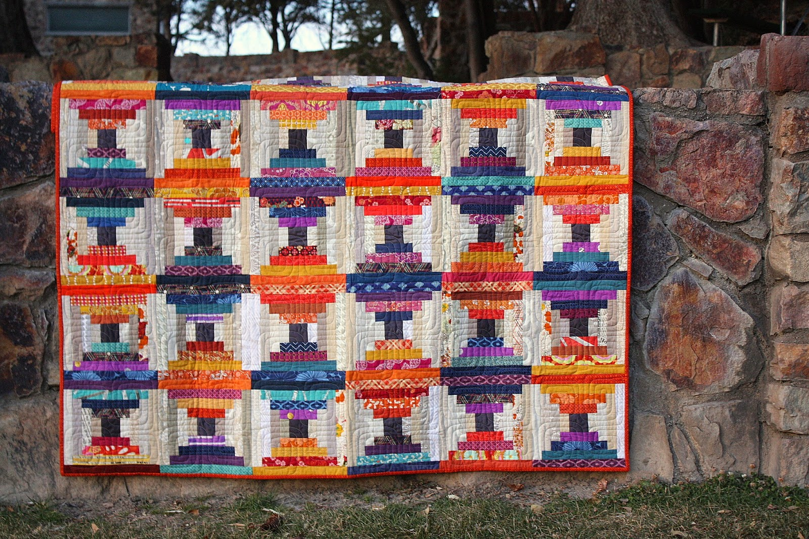 New Scraps pattern - Scraps Inc. - Diary of a Quilter - a quilt blog : free courthouse steps quilt pattern - Adamdwight.com