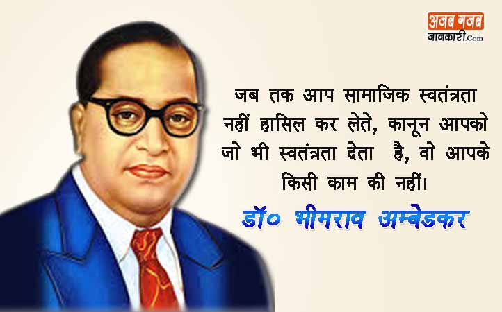 Ambedkar Jayanti quotes wishes in Hindi