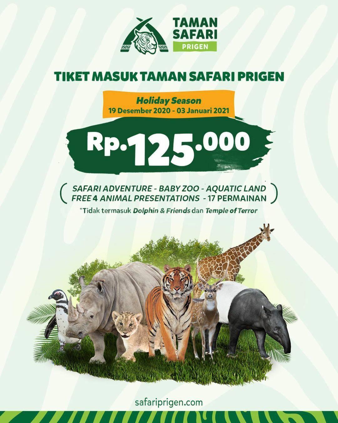Taman Safari Prigen Holiday Season – Promo Spesial Harga Tiket Masuk CUMA Rp 125.000
