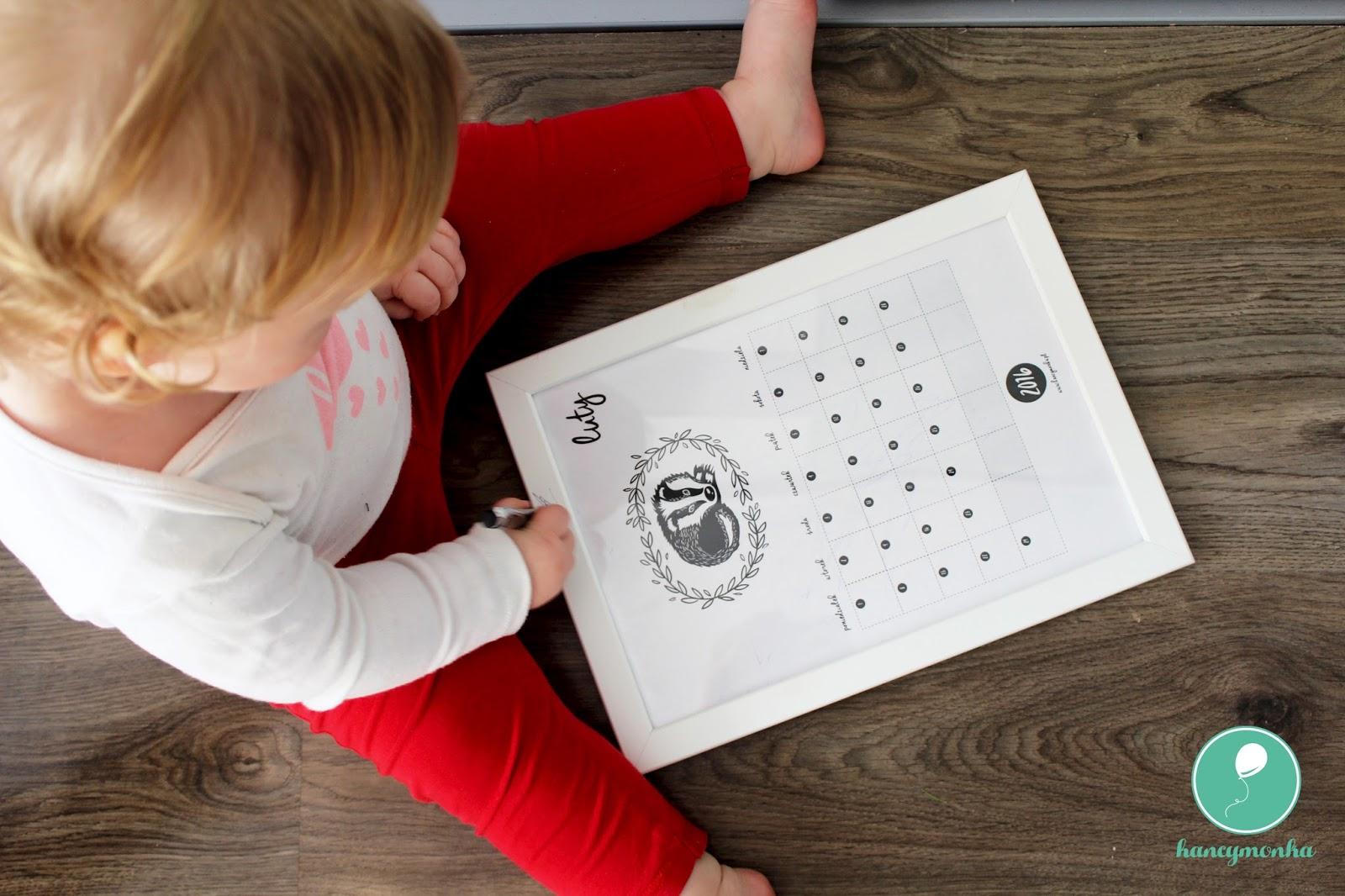 kalendarz, calendar, kalendarz 2016, calendar 2016, do druku, hancymonka, wydrukuj, pobierz, za darmo, print it, printable calendar, free, freebie, grafika