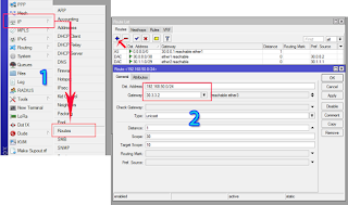Penambahan routing baru melalui winbox