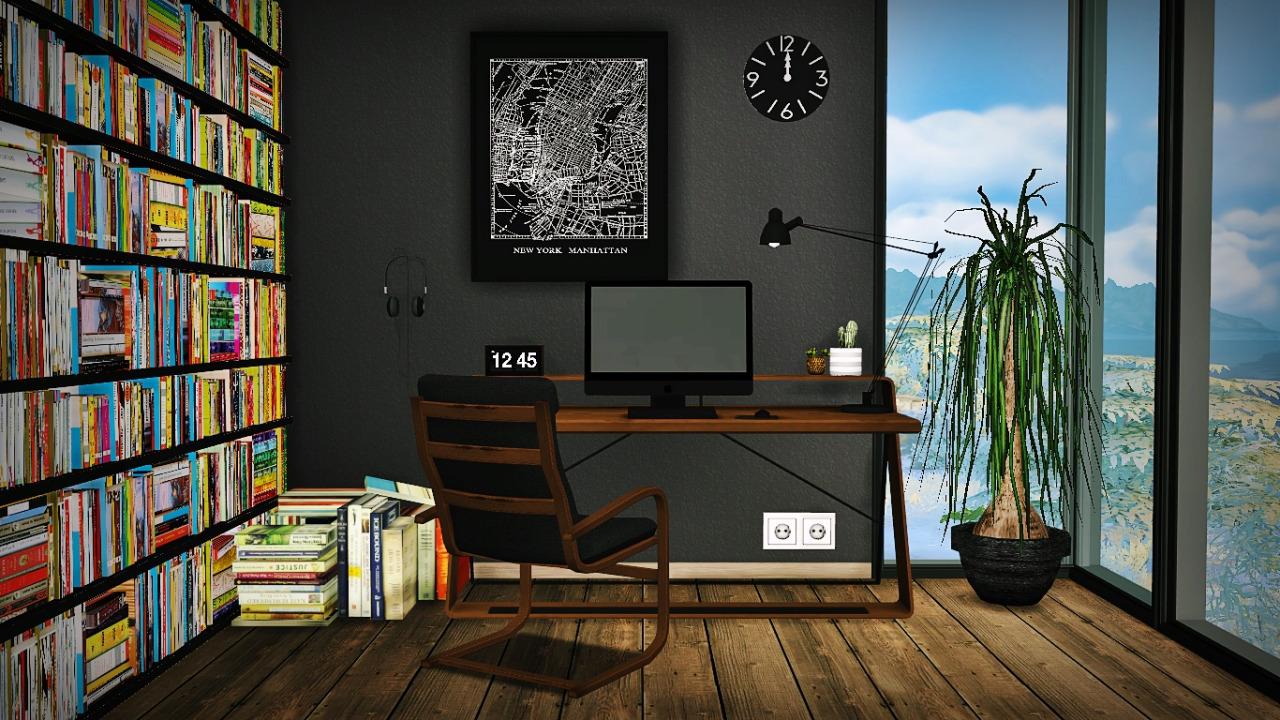 My Sims 4 Blog Ts2 Amp Ts3 Mid Century Modern Workspace