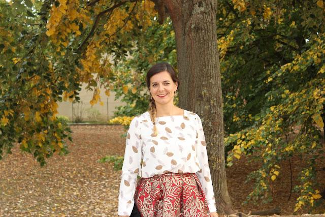 look d'automne, jupe halluber les petites bulles de ma vie